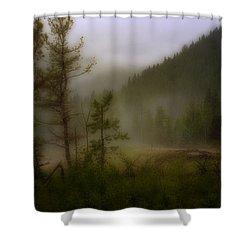 Shower Curtain featuring the photograph Misty Mountain by Ellen Heaverlo