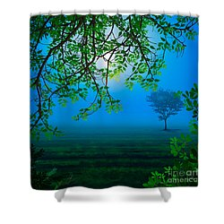 Misty Night Shower Curtain by Peter Awax