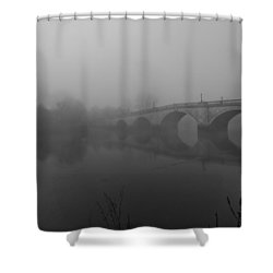 Misty Richmond Bridge Shower Curtain by Maj Seda