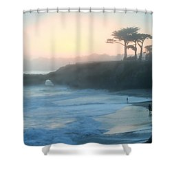 Misty Santa Cruz Shower Curtain by Art Block Collections