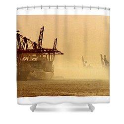Misty Seattle Waterfront Shower Curtain by Jack Pumphrey