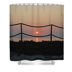 Misty Sunset 1 Shower Curtain