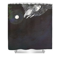 Shower Curtain featuring the painting Misty Twinight by Kim Pate