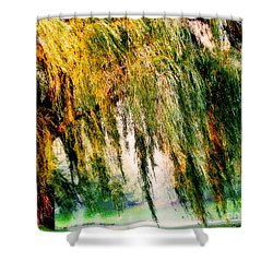 Misty Weeping Willow Tree Dreams Shower Curtain