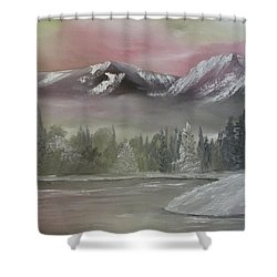 Misty Winter Shower Curtain