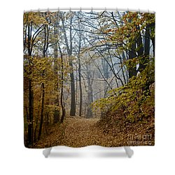 Misty Yellow Shower Curtain by Barbara McMahon