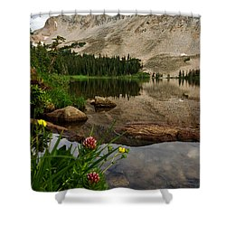 Mitchell Lake Reflections Shower Curtain