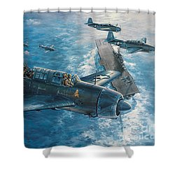 Mitscher's Hunt For The Rising Sun Shower Curtain