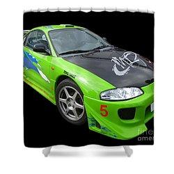 Mitsubishi Eclipse II Shower Curtain by Vicki Spindler
