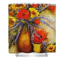 Mixed Bouquet Still Life Shower Curtain