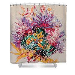 Mixed Coral Shower Curtain