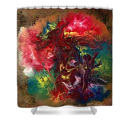 Mixed Media Abstract Post Modern Art By Alfredo Garcia Bizarre Shower Curtain