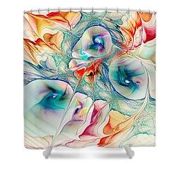 Mixed Reaction Shower Curtain by Anastasiya Malakhova