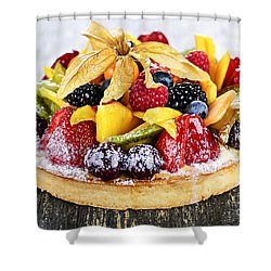 Mixed Tropical Fruit Tart Shower Curtain by Elena Elisseeva
