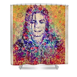 Mj Floral Version 3 Shower Curtain by Bekim Art