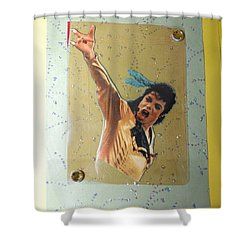 Mj Leave Me Alone Shower Curtain