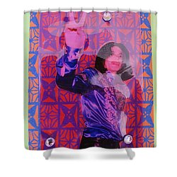 Mj Peace Shower Curtain