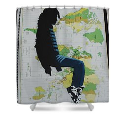 Mj They Dont Care Shower Curtain