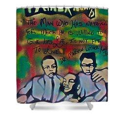 Mlk Fatherhood 1  Shower Curtain by Tony B Conscious