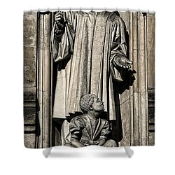 Mlk Memorial Shower Curtain by Stephen Stookey