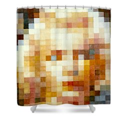 Shower Curtain featuring the painting Marylin by Henryk Gorecki