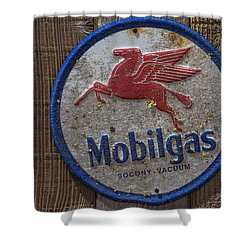 Mobil Gas Sign Shower Curtain