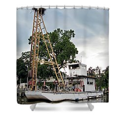 Shower Curtain featuring the photograph Mobile Osprey Nest by Brian Wallace