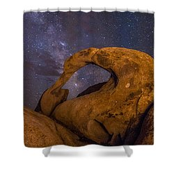 Mobius Arch And Milky Way Shower Curtain by Cat Connor