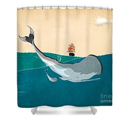 Moby Shower Curtain by Mark Ashkenazi