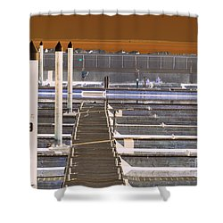 Mocha Dock 2 Shower Curtain