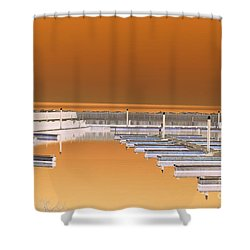 Mocha Dock Shower Curtain