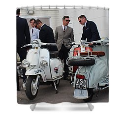 Mod Meeting Shower Curtain