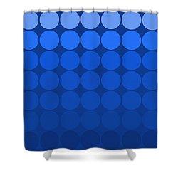 Mod Pop Mid-century Blue Tones Shower Curtain