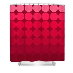 mod pop Mid Century circles pink to red Shower Curtain