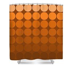 Mod Pop Mid- Century Orange Brown Shower Curtain
