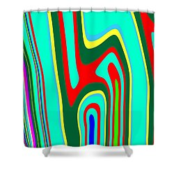 Shower Curtain featuring the painting Mod Stripes  C2014 by Paul Ashby