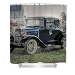 Shower Curtain featuring the photograph Model A Ford  by Dyle   Warren