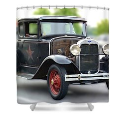 Model A Sheriff's Car Shower Curtain
