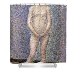 Model From The Front Shower Curtain by Georges Pierre Seurat