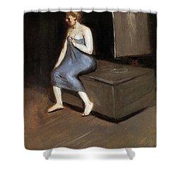 Model Sitting Shower Curtain by Edward Hopper