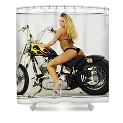 Models And Motorcycles_k Shower Curtain