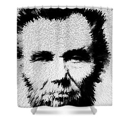 Modern Abe - Abraham Lincoln Art By Sharon Cummings Shower Curtain by Sharon Cummings