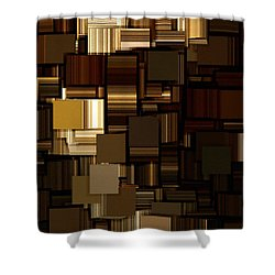 Modern Abstract Iv Shower Curtain by Lourry Legarde