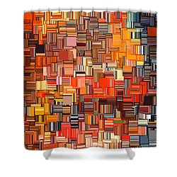 Modern Abstract Xxxi Shower Curtain by Lourry Legarde