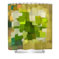 Modern Abstract Xxxv Shower Curtain by Lourry Legarde