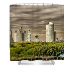 Modern Buenos Aires Tilt Shift Shower Curtain by For Ninety One Days