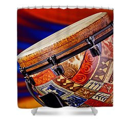Modern Djembe African Drum Photograph In Color 3336.02 Shower Curtain