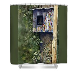 Modern Feathered Friends Shower Curtain