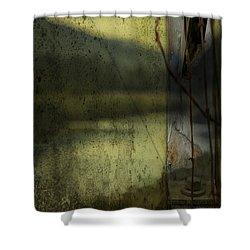 Modern Landscape Shower Curtain