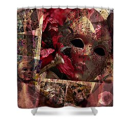 Modern Masks Shower Curtain